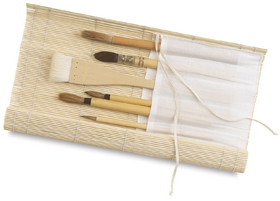 Bamboo Brush Holder   [339]